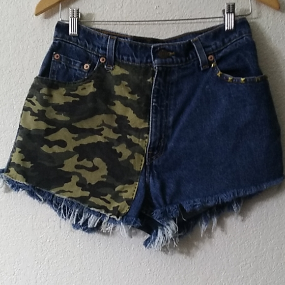 Levi's Pants - Remade vintage high waist shorts